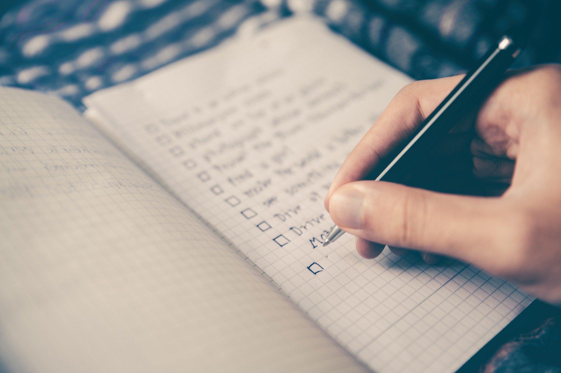 Checkliste um Webseiten Struktur zu definieren
