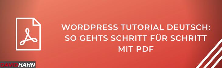 wordpress tutorial deutsch