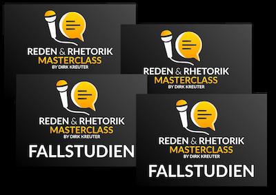 Reden und Rhetorik Masterclass - Fallstudien