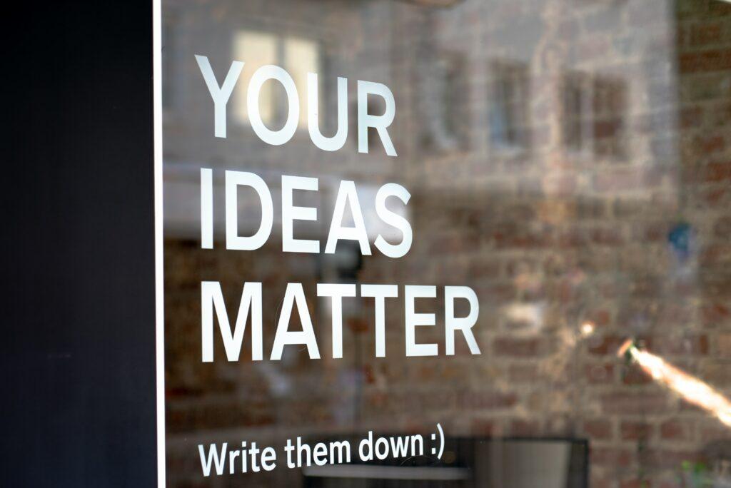 Ideen sind der Treibstoff für die Wege des Unternehmers