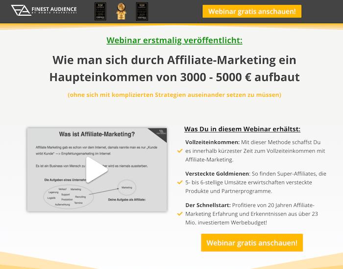 Affiliate Masterclass Webinar